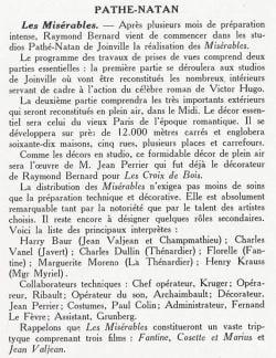 Cinéma de Décembre 1932