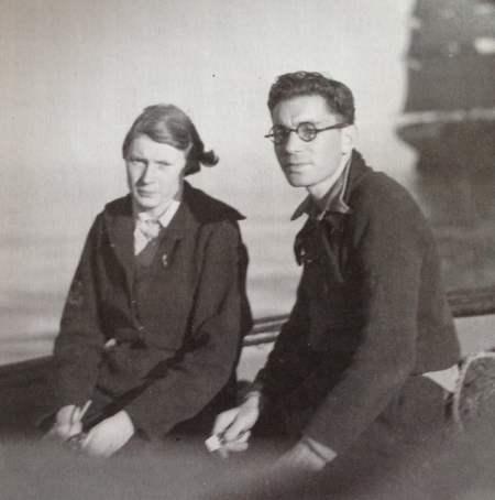 Pierre Chenal et sa script Dagmar Bolin en 1935 D.R