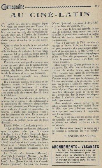 Cinémagazine du 22 juin 1928
