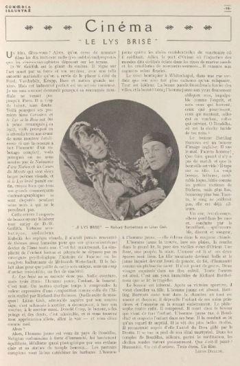 Comoedia Illustré de novembre 1920