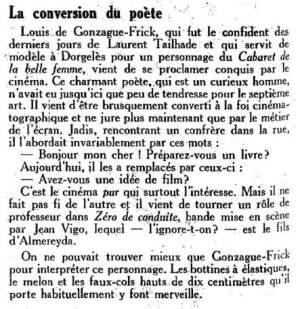 l'Oeil de Paris du 7 janvier 1933
