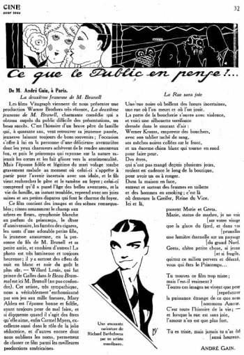 Cinéa du 3 mars 1926