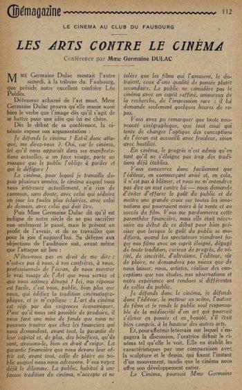 paru dans Cinémagazine du 17 Avril 1925