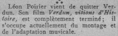 paru dans Comoedia du 7 juin 1928