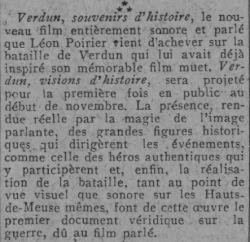 paru dans Comoedia du 10 octobre 1931