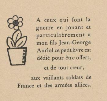 """paru dans """"La geste héroïque des petits soldats de bois et de plomb"""" de George Auriol (1915)"""