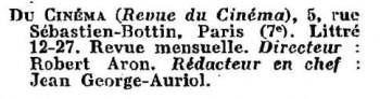 paru dans l'Annuaire général des lettres (1932)