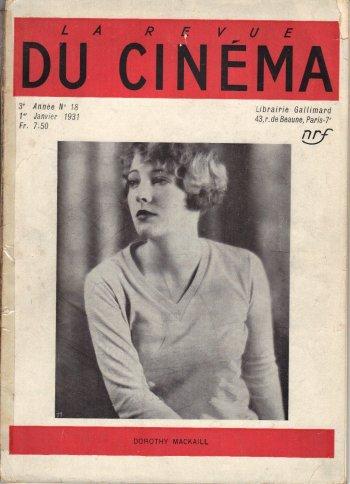 Couverture du n°18 de La Revue du cinéma (1931)