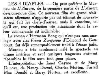 paru dans Cinéa du 15 Mars 1929