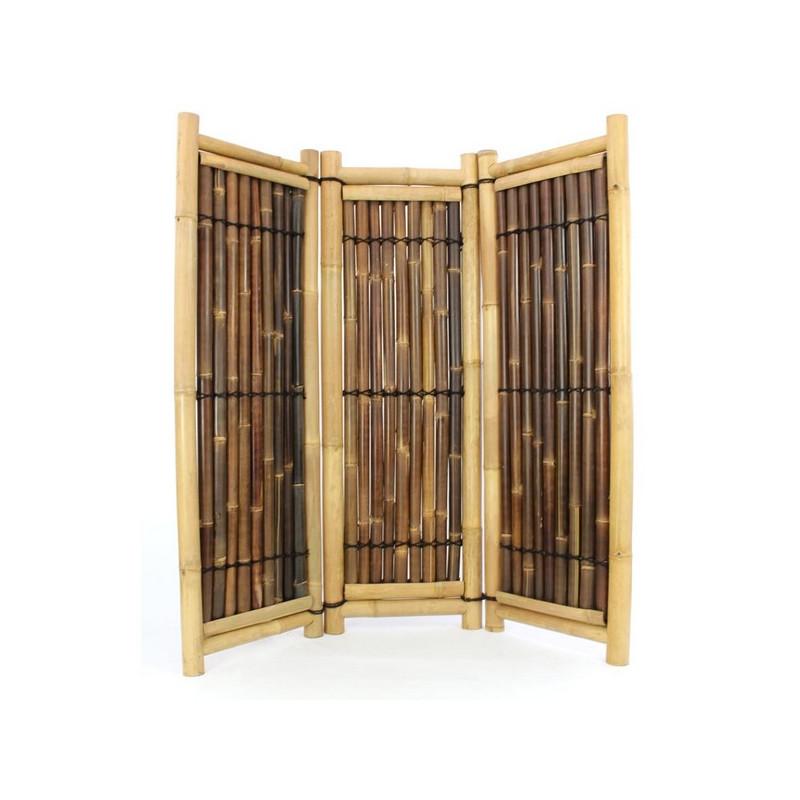 paravent exterieur bambou bi color h 180