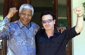Bono et Nelson Mandela