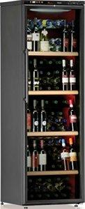 Cave à vin de service – 1 temp. – 138 bouteilles – Noir – CALICE – ACI-CAL208P – Pose libre