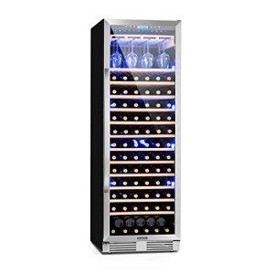 Klarstein Vinovilla Grande • Cave à vin XXL • 425L • 165 bouteilles • Classe A • Eclairage intérieur en 3 couleurs • 2 zones de réfrigération • 13 layettes en bois • écran LCD • noir