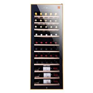 HUATINGRHHO Silencieux Cave à vin de Mise à Température, Dotée D'Une Capacité Importante pour Stocker 50 Bouteilles de vin Mécanique de 5° C à 22° C, Faible Niveau Sonore Porte vitrée