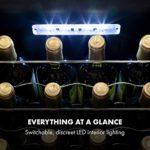Klarstein Shiraz Uno – cave à vin, températures: 5-18 °C, classe d'efficacité énergétique A, 42 dB, panneau de commande soft-touch, 4 clayettes, capacité 20 bouteilles de vin, volume: 53 l, noir