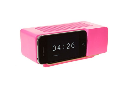 Support Alarm Dock pour iPhone 4/4S (Rose)