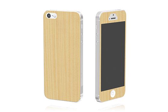 Sticker en bois pour iPhone 5 (Cèdre)