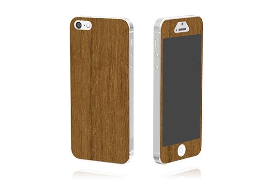 Sticker en bois pour iPhone 5 (Tech)