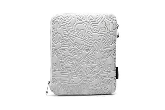 Housse iPad 2,3 et 4 Keith Haring Collection - People Embross (Blanc)