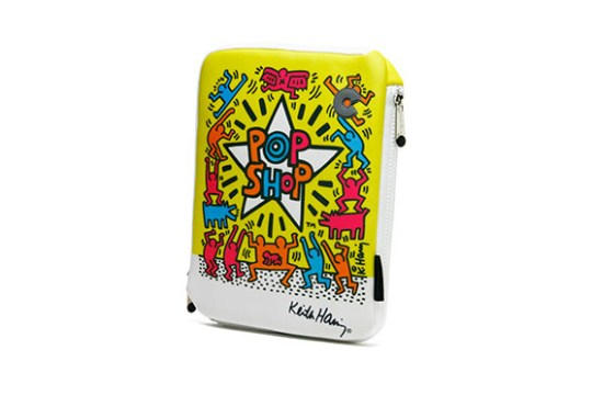 Housse iPad 2,3,4 Keith Haring Collection - Pop Shop (Jaune)