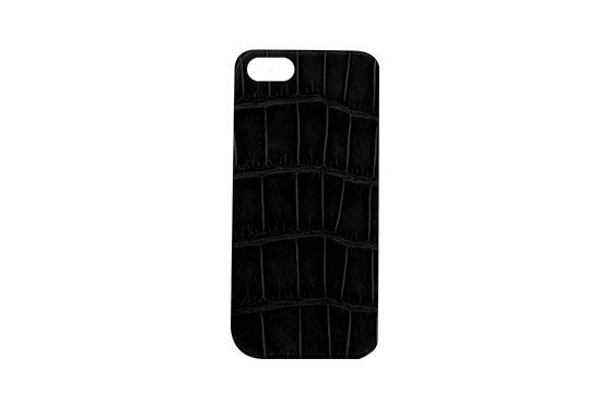 Coque iPhone 5/5s/SE Crocodile (Noir)