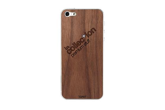 Sticker iPhone 5 en bois La Collection (Noyer)