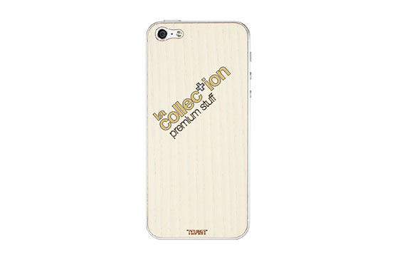 Sticker iPhone 5 en bois La Collection (Frêne)