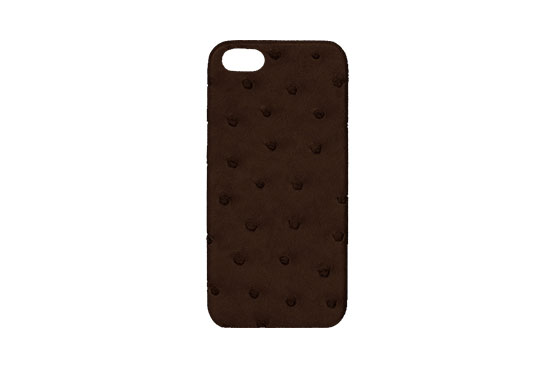 Coque iPhone 5/5s/SE (Autruche Tabac)