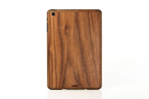 Sticker iPad Mini en bois (Noyer)