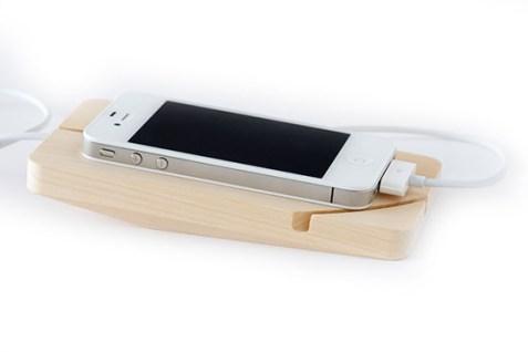 Support Téléphone Ripple bois