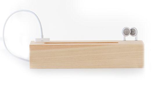 Support Téléphone Rectangulaire Under Bar bois