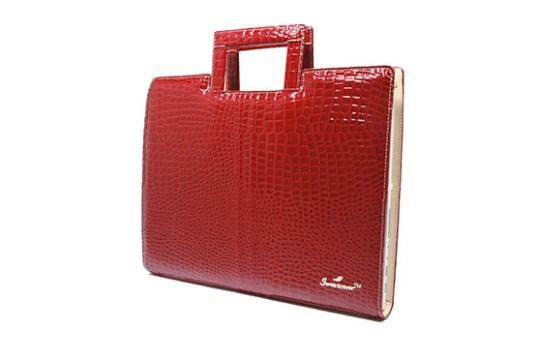 Sac Ordinateur Sweetcover 13″ Croco Ruby (Rouge)
