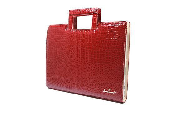 Sac Ordinateur Sweetcover 14″ Croco Ruby (Rouge)