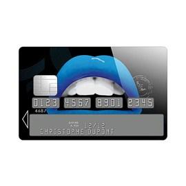 Sticker Carte Bleue Lips (Bleu)