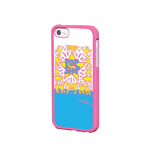 Coque iPhone Keith Haring Collection Pop Shop et Ecouteurs Roses
