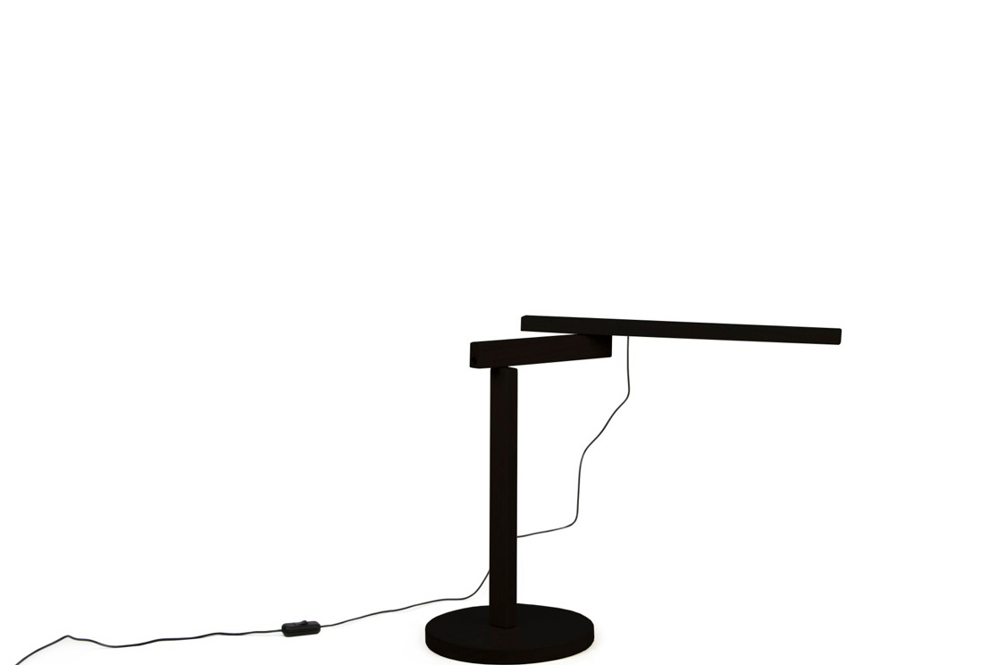 Lampe objekten Twist oak dark (Noir)