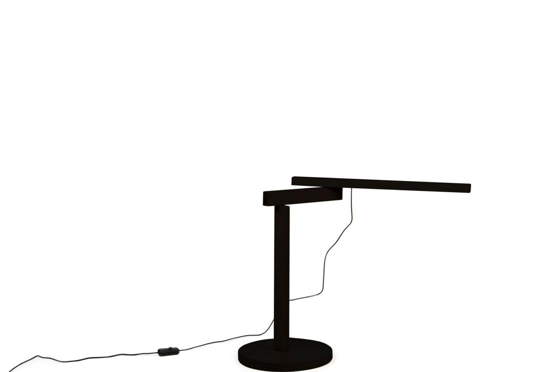Lampe objekten Twist oak dark (Noir)