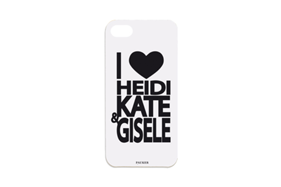 Coque iPhone 5 Blanche Pauker I Love Heidi