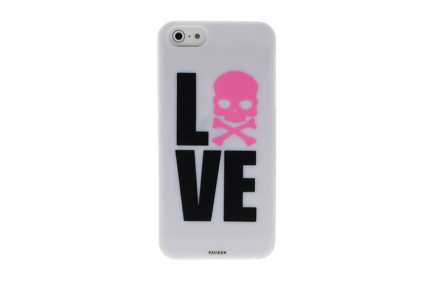 Coque iPhone 5/5S/SE Pauker Love Blanc