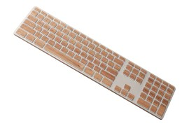 Stickers en bois pour clavier Mac USB Lazerwood Cherry