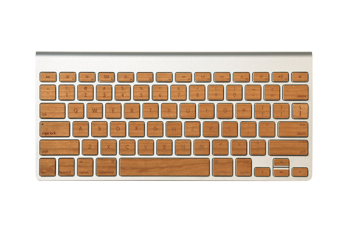 Sticker en bois (cherry) pour clavier sans fil Mac Lazerwood
