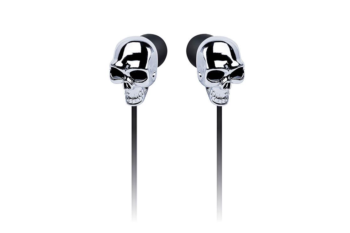 Ecouteurs Merkury Skull (SILVER)