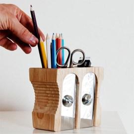 Pot à crayons 'Double Taille-Crayon'