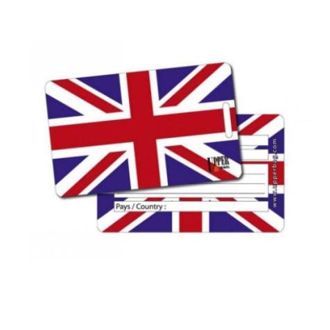 ETIQUETTE BAGAGE UK FLAG