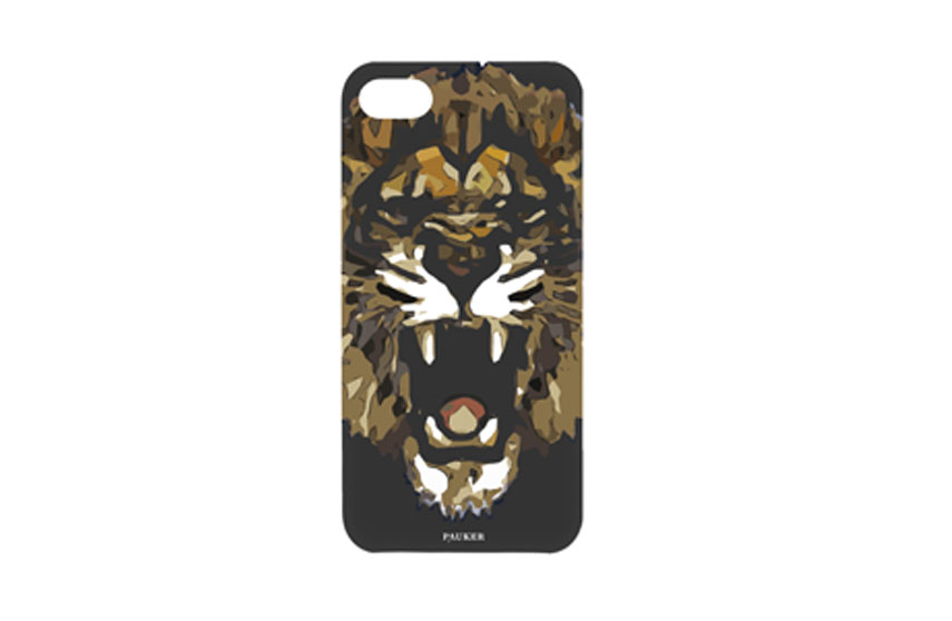 Coque iPhone 5/5S/SE Lion Pauker Noir