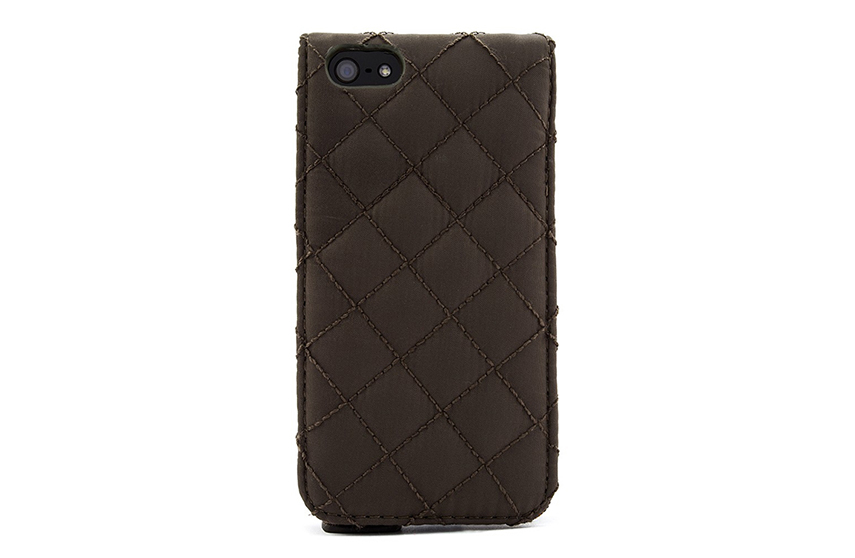 étui Barbour iPhone matelassé (olive)