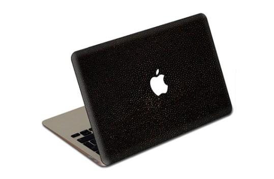 """Sticker cuir galuchat Jamie Clawson MacBook Air 13"""" (Noir)"""