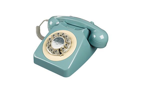 Téléphone vintage Série 746 Wild and Wolf (Bleu Français)