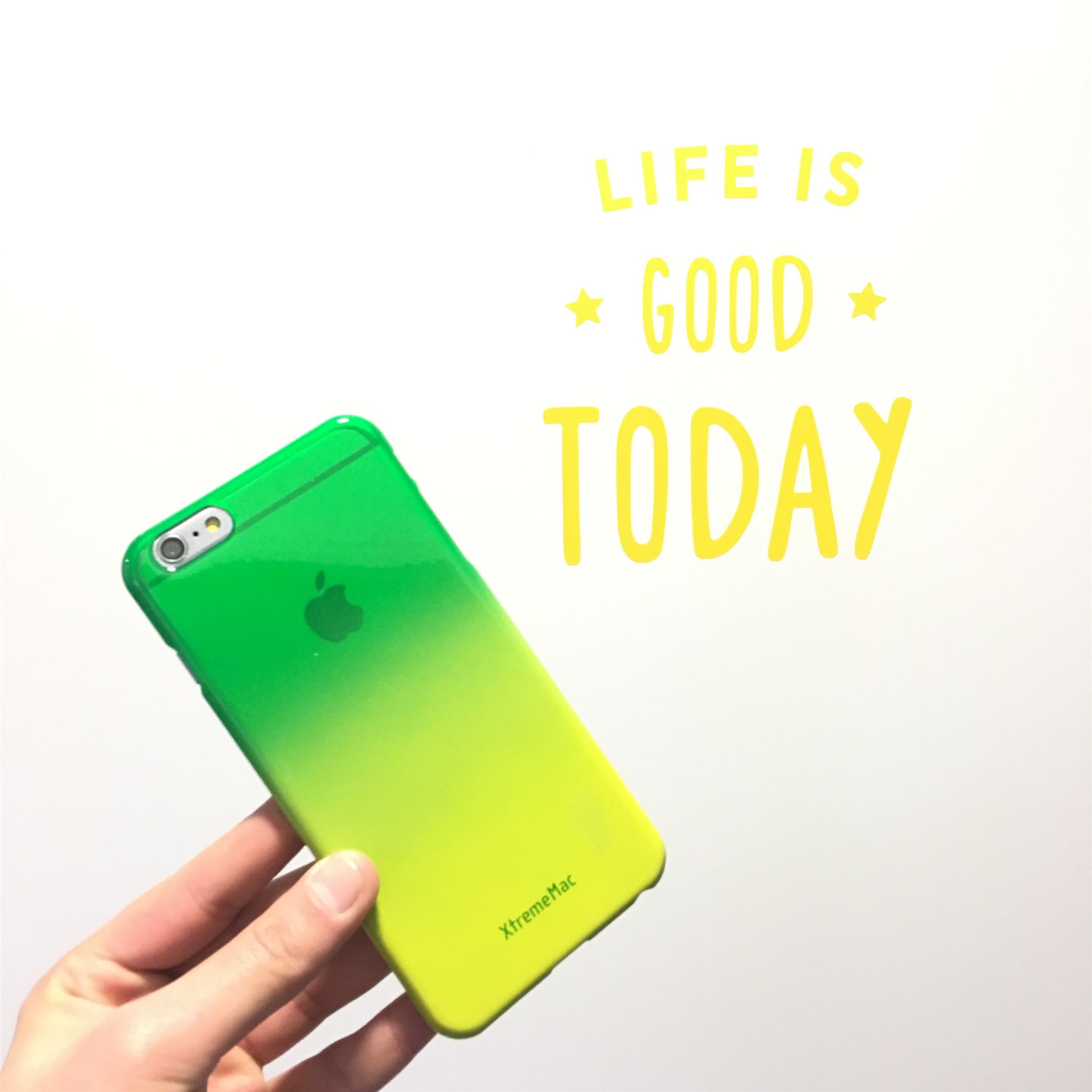 Coque pour iPhone 6+ Microshield fade verte et jaune XtremeMac