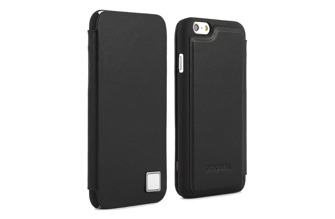 Coque Proporta Cuir Noir iPhone 6